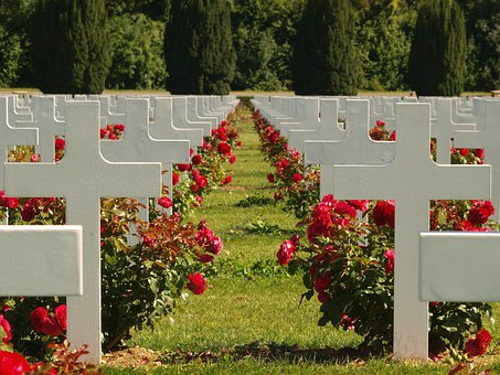 France, Douaumont Ossuary, Cemetery, Graves, Headstone