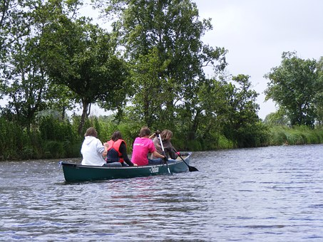Paddle Tour, East Frisia, Channel, Canoeing