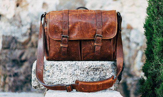 Bag, Classic, Leather, Messenger Bag, Vintage, Brown