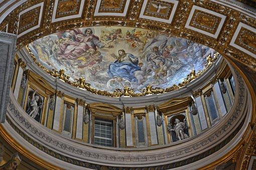 St Peter's Basilica, Cover Fresco, Rome