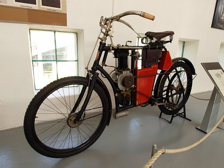 Laurin And Klement, 1903, Cycle, Motorcycle, Old