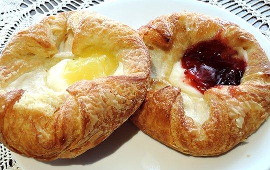 Danish Pastry, Cream Cheese, Jam, Lemon Filling