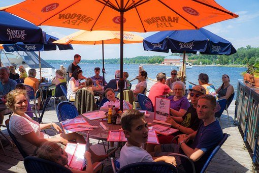 People, Dinner, Cafe, Lake Champlain, Burlington