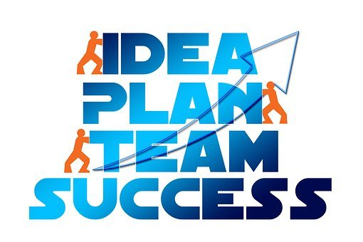 Idea, Plan, Team, Success, Action, Concept, Economy