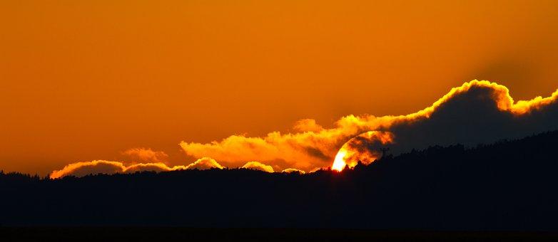 Sunset, Evening Sky, Afterglow, Clouds, Sky