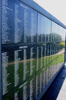 Wall, Granite, Names, War Victims, Exterior