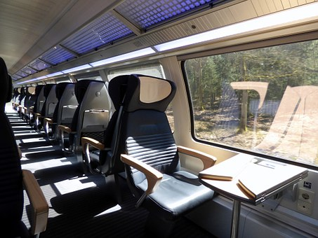 Train, Compartment, First Class, Wagon