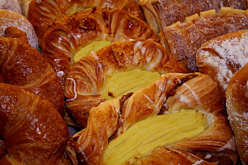 Pastries, Bakery, Bake, Food, Particles, Danish Pastry