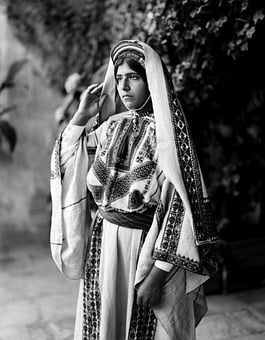 Woman, Costume, Traditionally, Garment, Ramallah, Dress