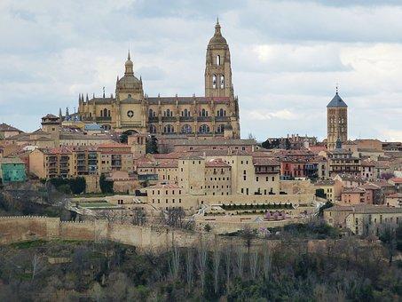 Segovia, Spain, Historic Center, Castile, Historically