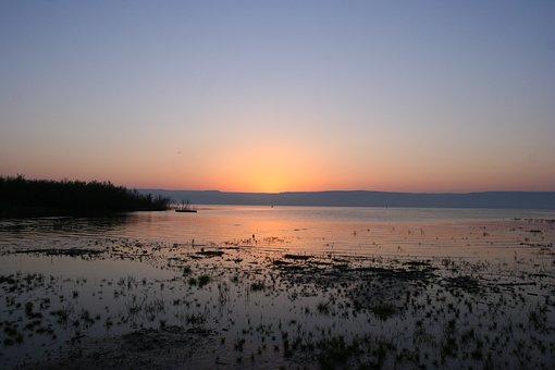 Sunrise, Sea Of Galilee, Lake, Israel, Morning, Tourism