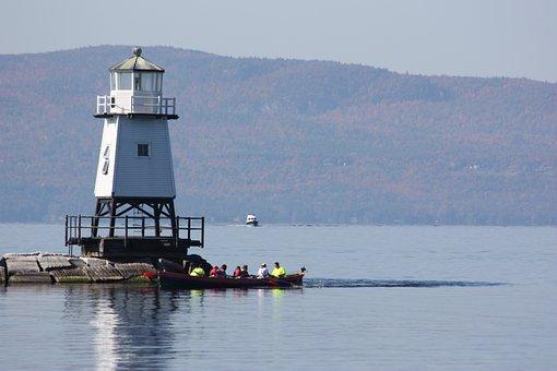 Lake Champlain, Lighthouse, Lake, Water, Outdoor