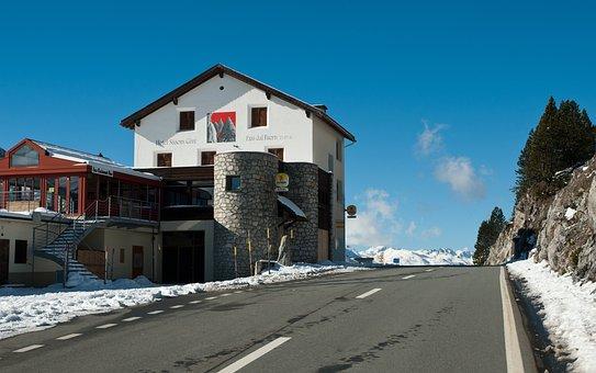 Tschierv, Switzerland, Landscape, Buildings, Restaurant