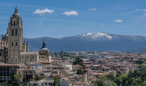 Madrid, Views, Mountain, Snow, Landscape, Nature, Top