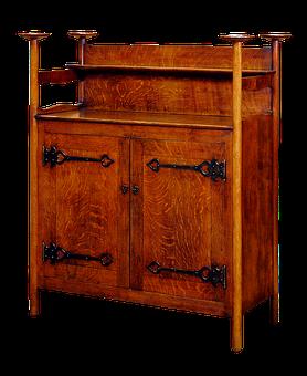 Sideboard, Wood, Furniture, Antique, Oak, Oak Sideboard
