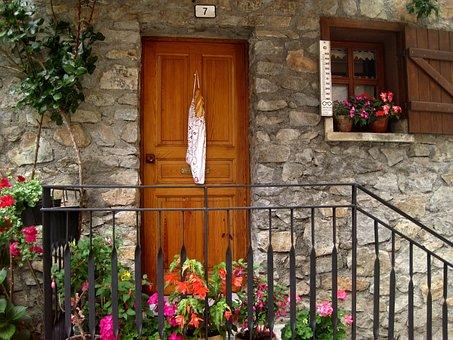 Mountain House, Door, Bread, Pyrenees, Plants