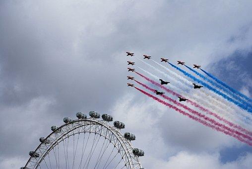 Red Arrows, Aerobatics, Formation, Bae Hawk Trainer