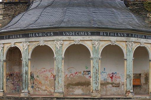 Ruin, Greiz, Building, Old, Architecture, Facade