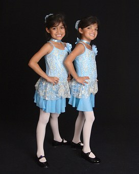 Twins, Girls, Recital, Dancer, Child, Sister