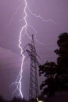 Storm, Lightning, Power Pole, Lightning Safety