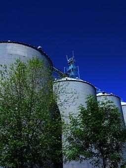 Silos, Huge, Tall, Tanks, Industry, Storage, Steel