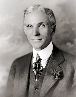Henry Ford, Portrait, Man, Suit, Tie, 1919