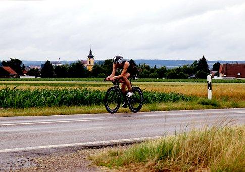 Triathlon, Triathlete, Cyclists, Road Bike, Bike