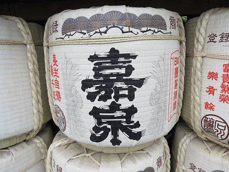 Japan, Sake, Barrel