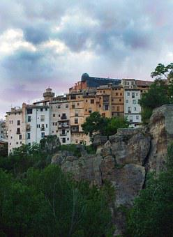 Basin, Spain, Panoramic, Rocks And City, Old Town