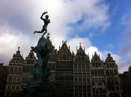 Belgium, Antwerp, Sculpture, Architecture, Sky, Figure