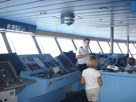 Cockpit, Captain, Ferry, Boat