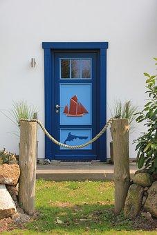 Door, Captain, Captain Door, Blue, Ship, Fischland
