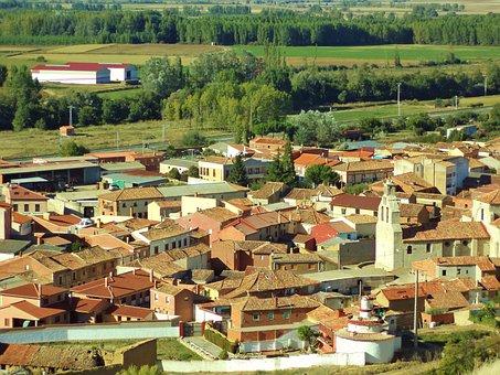 Spain, Castile, Palencia, Monzón De Campos, Village