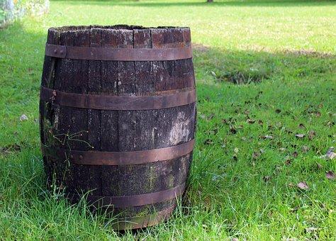 Wooden Barrels, Barrel, Container, Wood, Deco
