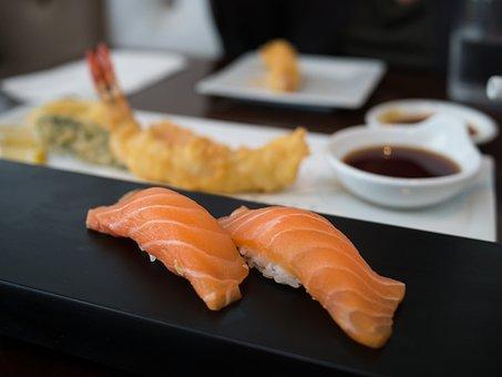 Sushi, Sake, Nigiri, Food