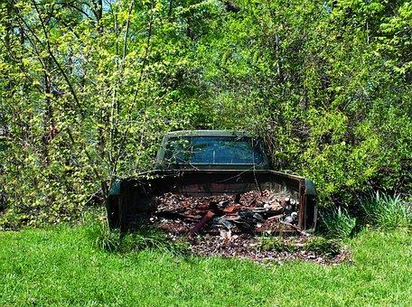 Scrap, Truck, Old, Vehicle, Garbage, Wreck, Rusty, Junk