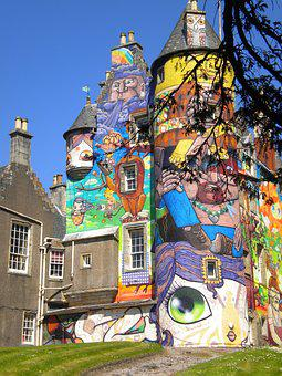 Kelburn Castle, Graffiti Castle, Graffiti, Scotland