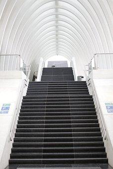 Gare De Liège, Architecture, Stairs, Hall, Salazar