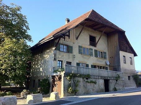 Farmhouse, Homestead, Switzerland, Himmelriich, House