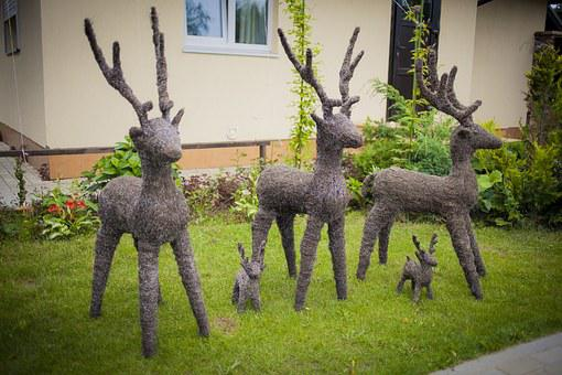 Private House, Deer, Made By Hands