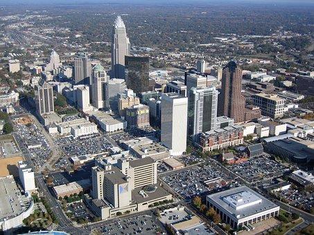 Charlotte, North Carolina, City, Aerial View, Cityscape
