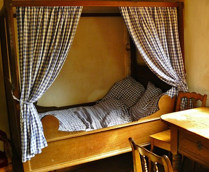 Bed, Four Poster Bed, Room, Antique, Sleep, Nostalgia