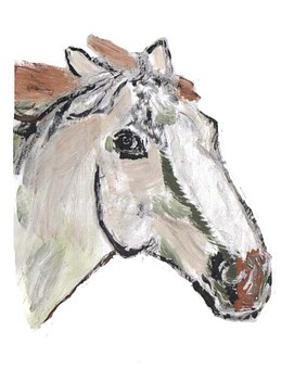 Drawing, Painting, Lusitanohengst, Horse