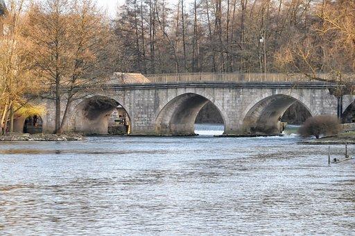 Bridge, Former, Moret-sur-loing, Mediéval, Pierre