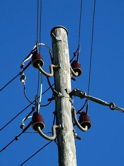 Strommast, Power Line, Current Conducting