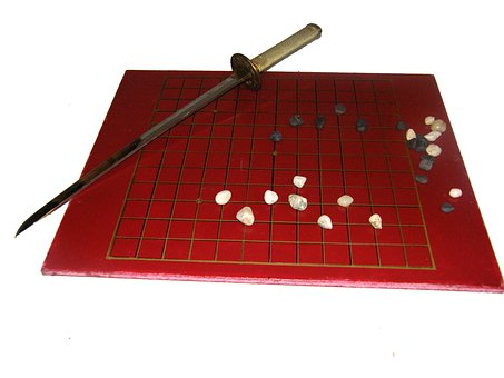 Go Game, Play, Board, Red, Stones, Sabre, Chinese