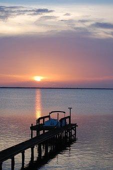 Sunset, Salazar, Boat, River, Water