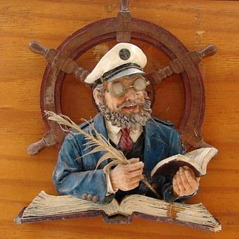 Seafaring, Captain, Sailors, Rudder, Logbook