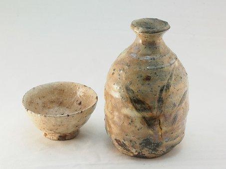 Pottery, Sake Cup, Sake Bottle