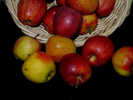 Apple, Fruit Basket, Fruit, Basket, Salazar, Red, Food